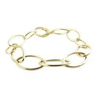 """Vintage Tiffany & Co. Germany 18K Yellow Gold Oval Link Bracelet 7 1/4"""""""