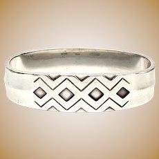 Vintage Georg Jensen Denmark Sterling Silver Rune/Mayan Napkin Ring #292