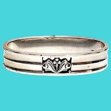 Vintage Georg Jensen Denmark Sterling Silver Acanthus Napkin Ring #173A