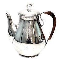 Vintage Holger Rasmussen Denmark Sterling Silver Coffee Pot Wood Handle
