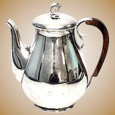 Vintage Holger Rasmussen Denmark Sterling Silver Coffee Pot Wood Handle