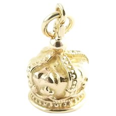 Vintage 14 Karat Yellow Gold Crown Charm