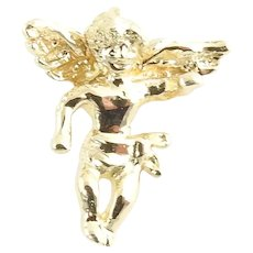 Vintage 14 Karat Yellow Gold Angel Charm