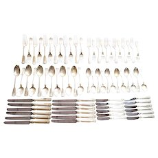 Tiffany & Co Sterling Silver Shell & Thread 72pc Flatware Set, 6pc Serving for 12, No Monogram