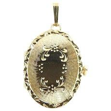 Vintage 14 Karat Yellow Gold Locket Pendant