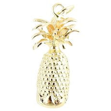 Vintage 14 Karat Yellow Gold Pineapple Charm
