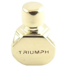 Vintage 14 Karat Yellow Gold Triumph Perfume Bottle Charm