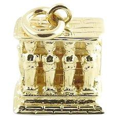 Vintage 14 Karat Yellow Gold Vestal Virgins Monument Charm