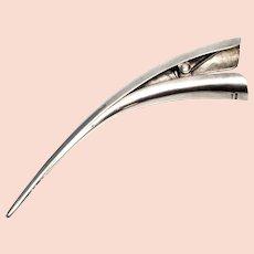 Ted Muehling Sterling Silver Bird Beak Hair Clip