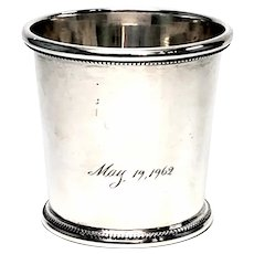 Vintage Baldwin & Miller Inc Mint Julep Cup #142 with Engraving