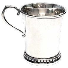 Vintage Georg Jensen USA Sterling Silver Child's Cup #12