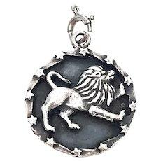 Vintage Ella Cone Sterling Silver Leo Zodiac Charm