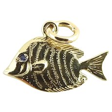 Vintage 14 Karat Yellow Gold Fish Charm