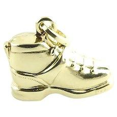 Vintage 14 Karat Yellow Gold Boot Charm