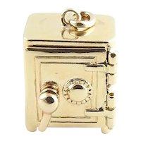 Vintage 14 Karat Yellow Gold Safe Charm