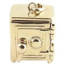 Vintage 14 Karat Yellow Gold Safe Charm