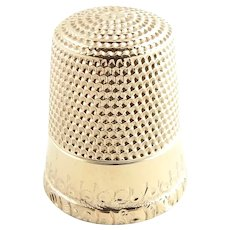 Vintage 10 Karat Yellow Gold Thimble