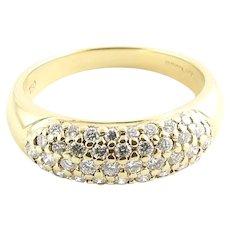Vintage 18 Karat Yellow Gold and Diamond Wedding Band Size 6.25