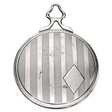 Vintage Sterling Silver Hand Pocket Mirror with Monogram
