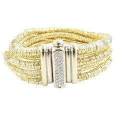 Orlandini 18K Yellow and White Gold Diamond Multi-Strand Bracelet