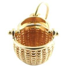 Vintage 14 Karat Yellow Gold Glenaan Nantucket Basket
