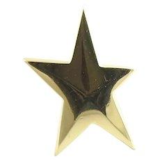 1983 Tiffany & Co. Angela Cummings 18K Yellow Gold SINGLE Gold Star Earring