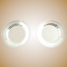 """2 Antique Tiffany & Co. Sterling Silver Nut Dishes 3"""" 1873 - 1891"""