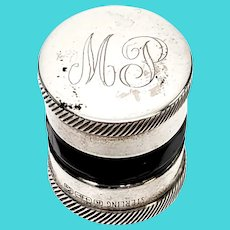 Antique R. Blackington Sterling Silver Contact Lens Case with Monogram