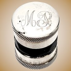 Antique R. Blackington Sterling Silver Contact Lens Case with Monogram