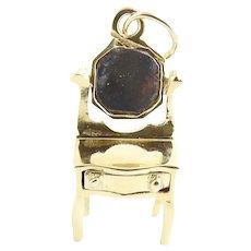 Vintage 14 Karat Yellow Gold Vanity Charm