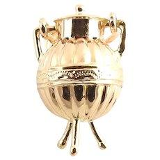 Vintage 14 Karat Rose Gold Urn Charm