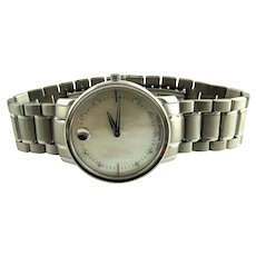 Movado TC Stainless Steel Mother of Pearl Diamond Ladies Watch 0606691 Quartz