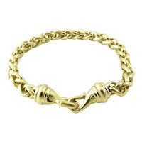 David Yurman 18K Solid Yellow Gold Wheat Chain Bracelet 6.75""