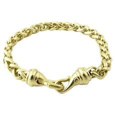 "David Yurman 18K Solid Yellow Gold Wheat Chain Bracelet 6.75"""