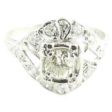 Vintage Platinum and Diamond Ring Size 5.5