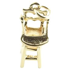 Vintage 14 Karat Yellow Gold Highchair Charm