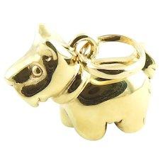 Vintage 18 Karat Yellow Gold Scottish Terrier Charm