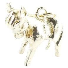 Vintage 6 Karat Yellow Gold Donkey Charm
