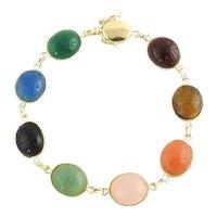 Vintage 14 Karat Yellow Gold Scarab Bracelet