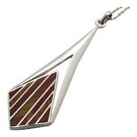 Taxco Mexico Antonio Hdez Sterling Silver Pendant With Chain