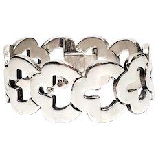 Vintage Taxco Mexico Antonio Pineda 970 Silver Keyhole Link Bracelet