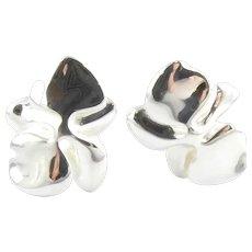 Vintage Angela Cummings Sterling Silver Orchard Earrings