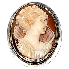 Vintage Sterling Silver Cameo Pin/Pendant