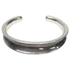 RLM Studio Sterling Silver Oxidized Concave Cuff Bracelet
