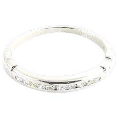 Vintage Platinum and Diamond Wedding Band Size 4.5