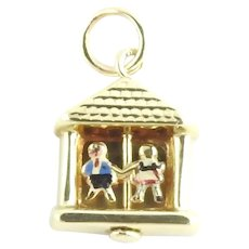 Vintage 10 Karat Yellow Gold Couple in House Charm