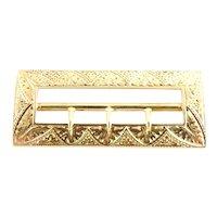 Vintage 14 Karat Yellow Gold Sash/Belt Buckle