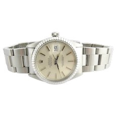 1983 Rolex Stainless Steel 16030 Men's Watch 36 mm Automatic Silver Dial