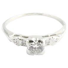 Vintage Platinum and Diamond Engagement Ring Size 9