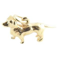 Vintage 14 Karat Yellow Gold Dachshund Dog Charm